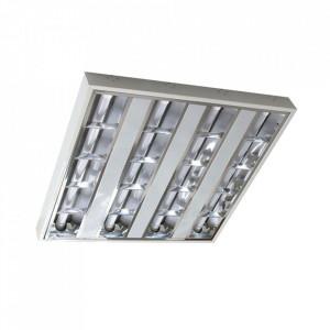 Plafoniera alba/argintie din metal cu LED Visko Milagro Lighting