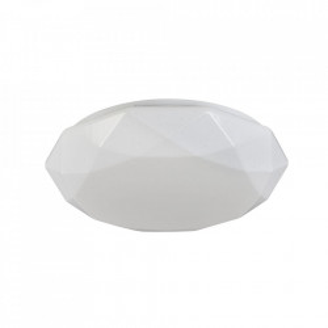 Plafoniera alba din metal si plastic cu LED Crystallize Maytoni