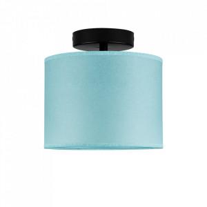 Plafoniera albastra/neagra din hartie si otel Taiko Sotto Luce