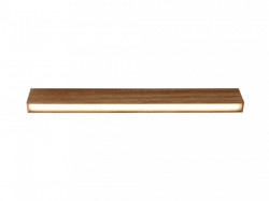 Plafoniera maro din lemn cu LED Line Plus L Natural Wood Custom Form