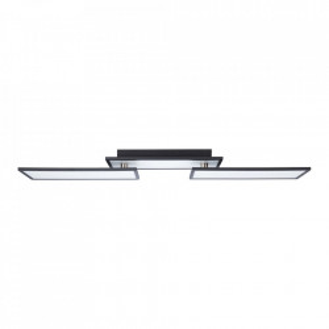 Plafoniera neagra/alba din plastic si metal cu LED Bility Large Brilliant