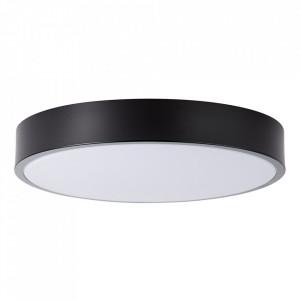 Plafoniera neagra/alba din plastic si metal cu LED Slimline Small Brilliant