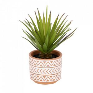 Planta artificiala cu ghiveci din ceramica 13 cm Palm La Forma