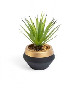 Planta artificiala cu ghiveci din ceramica 17,8 cm Palm Kave Home
