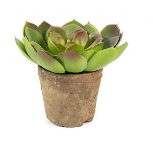 Planta artificiala cu ghiveci din teracota 15 cm Zelena Kave Home