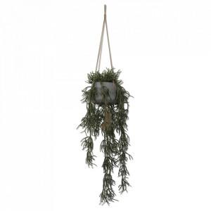 Planta artificiala suspendabila verde/gri din plastic si ciment 104 cm Succulents Opjet Paris