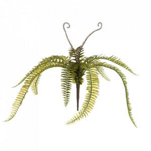 Planta artificiala verde din polietilena 53 cm Branch Fern Medium Unimasa