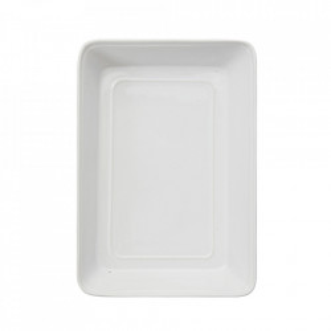 Platou alb din ceramica 23x33 cm Tobhias Bloomingville