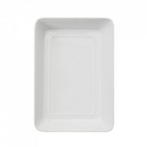 Platou alb din ceramica 23x33 cm Tobhias Creative Collection
