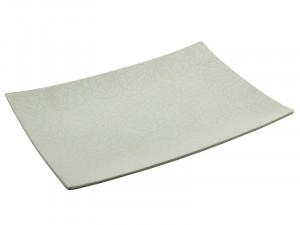 Platou alb din ceramica 36x49 cm Center Santiago Pons