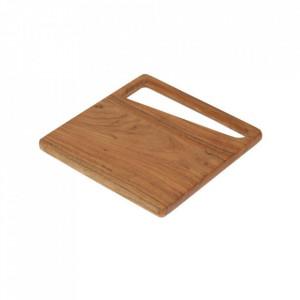 Platou maro din lemn de salcam 30x30 cm Serilda Kave Home