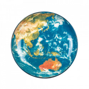 Platou multicolor din portelan 32 cm Cosmic Earth Asia Seletti
