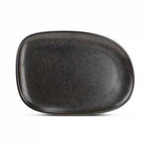 Platou negru din portelan 23x33 cm Ceres Fine2Dine
