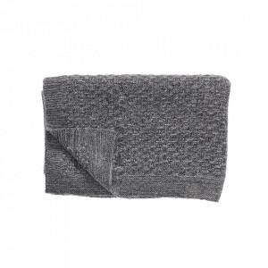 Pled gri inchis din lana 130x200 cm Moore Hubsch