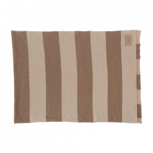 Pled nude/maro din fibre acrilice 130x170 cm Sonno Oyoy