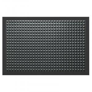 Pres dreptunghiular negru din cauciuc pentru intrare 90x120 cm Bubble Lako