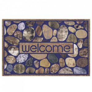 Pres multicolor dreptunghiular pentru intrare din polipropilena 45x70 cm Stone The Home