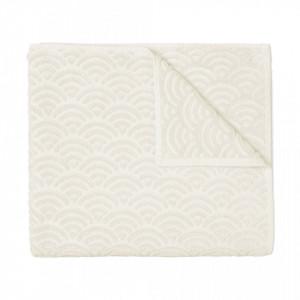 Prosop alb din bumbac organic 90x150 cm Off White Cam Cam