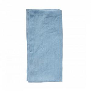 Prosop albastru din bumbac si in pentru bucatarie 40x40 cm Napkin Hemmed Nordal