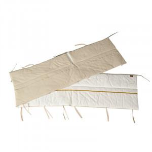 Protectie crem/bej din textil pentru tarc de joaca Ethnic Reverse Quax