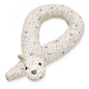Protectie multicolora din bumbac pentru pat 40x180 cm Animal Bumper Pressed Leaves Rose Cam Cam