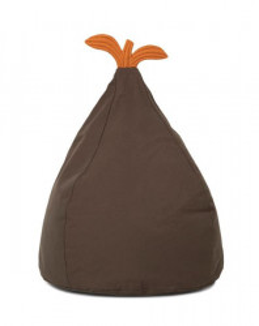 Puf oval din bumbac 35x55 cm Pear Ferm Living