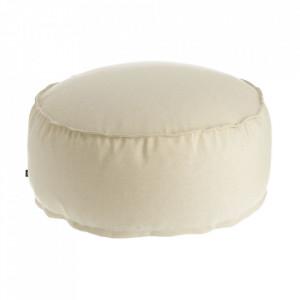 Puf rotund bej din fibre acrilice si in pentru exterior 70 cm Nedra La Forma