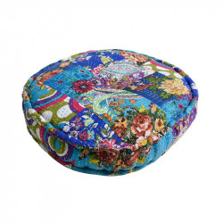 Puf rotund multicolor din bumbac 55 cm Nature Giner y Colomer