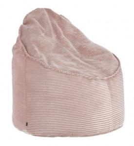 Puf rotund roz din textil 80 cm Bimba La Forma