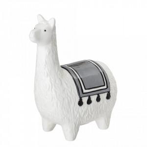 Pusculita alba din ceramica 18 cm Llama Bloomingville Mini