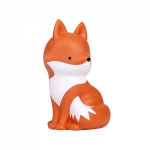 Pusculita alba/portocalie din PVC 18 cm Fox A Little Lovely Company