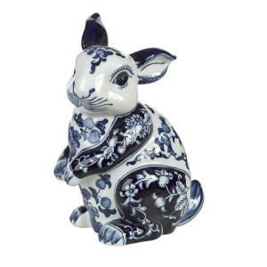 Pusculita din portelan alb/albastru Piggy Pols Potten