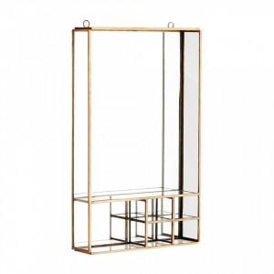 Raft cu oglinda din fier si sticla 20,5 cm Mike Brass Madam Stoltz