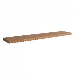 Raft maro din lemn de tec 90 cm Aeolian Raw Materials