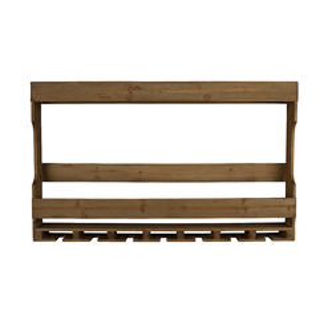Raft maro din lemn pentru sticle 80 cm Tres Dutchbone