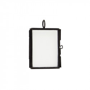 Rama foto neagra din fier si sticla 5x4 cm Iron Black Madam Stoltz