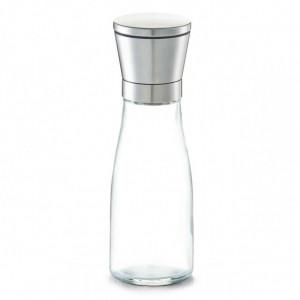 Rasnita manuala pentru sare si piper transparenta/argintie din sticla si inox Comida Zeller