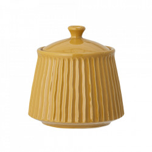 Recipient cu capac galben din ceramica 14x15 cm Poppy Bloomingville