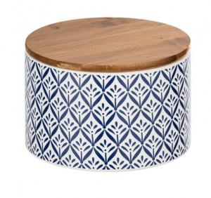 Recipient cu capac multicolor din ceramica si lemn 0,75 L Lorca Medium Wenko
