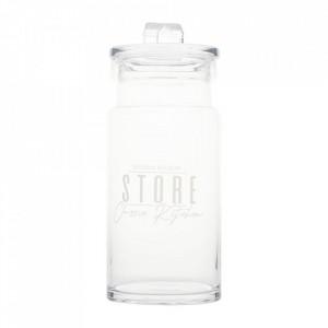 Recipient cu capac transparent din sticla 30 cm Lako Riviera Maison