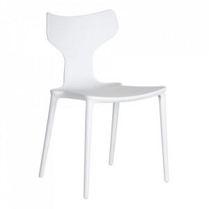Scaun alb din plastic Trend Ixia