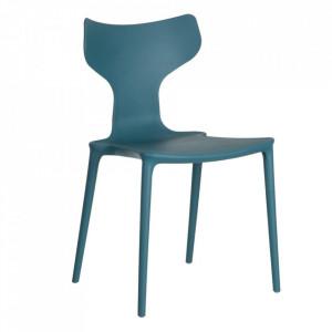 Scaun albastru din plastic Trend Ixia