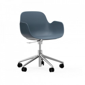Scaun birou ajustabil rotativ albastru din polipropilena Form 5W Normann Copenhagen
