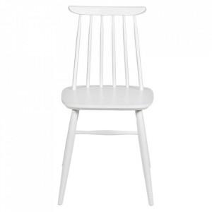 Scaun dining alb din lemn Aino Woodman