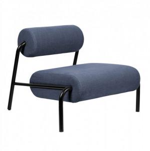 Scaun lounge albastru din fier si poliester Lekima Zuiver