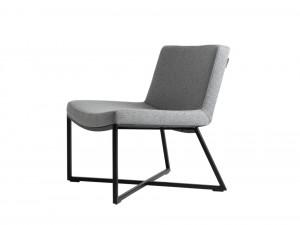 Scaun lounge gri/negru din textil si metal Zero Custom Form