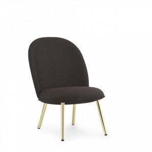Scaun lounge maro/auriu din otel si textil Brass Normann Copenhagen
