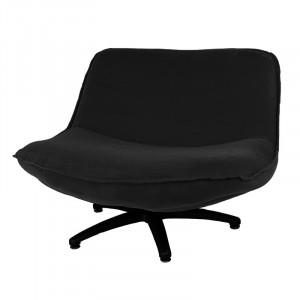 Scaun lounge negru din poliester si lemn Forli Seven LifeStyle Home Collection