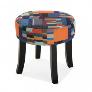 Scaunel multicolor din textil Etna Velvet Versa Home