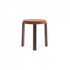 Scaunel rotund maro din lemn 35 cm Tap Normann Copenhagen
